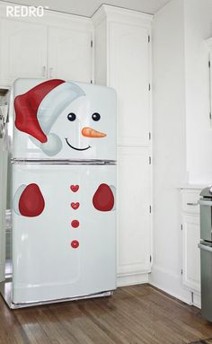 how to make super easy christmas decorations on a budget - snowmen doors 1342 Christmas Decorating Trending Now - Home Decoration amazing christmas apartment decorating ideas page decor is often overlooked in regards to holidays Snowman Christmas Decorations, Christmas Snowman, Simple Christmas, Christmas Home, Christmas Ornaments, Christmas Classroom Door, Natal Diy, Holiday Crafts, Fridge Decor