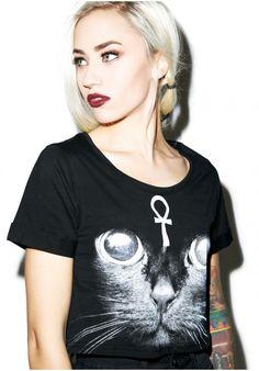 #dollskill #witch #cat #meow #blackonblack #croptop #killstar