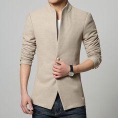 Single-Breasted Casual Blazer – The Elite Trends Blazers For Men Casual, Casual Suit Jacket, Casual Blazer, Terno Casual, Terno Slim, Indian Men Fashion, Mens Fashion Suits, Blazer For Men Fashion, Men's Fashion