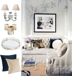 I love this - it's glamorous & cozy! I'm having a corner sofa like this made for a beautiful house with a tricky floor plan. I hope I'll be invited for a cocktail once it's done!