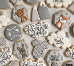 babyshowerthemes babyshowerideas tendollarbuxcom babyshower shower unique themes ideas cool baby boys for 38 38 Cool ideas for unique baby shower themes for boys You can find Baby shower cookies and more on our website Baby Shower Winter, Baby Shower Fun, Baby Shower Parties, Animal Theme Baby Shower, Baby Shower Themes Neutral, Baby Cookies, Baby Shower Cookies, Sugar Cookies, Fun Cookies