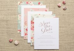Vintage Floral Cotton Wedding Invitation Inspiration - Oh So Beautiful Paper