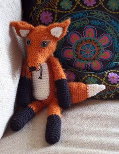 bosliefje: gehaakte vos crocheted fox