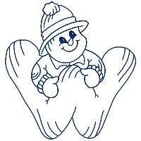 Snowman Fun Alphabet W