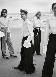Clean Slate: Karoline Egelund, Johanna Robin, Sarah Polano & Hirshy Grace by Georges Antoni for Marie Claire Australia May 2017