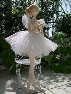 Bonecas bailarinas com molde