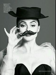 Helena Bonham Carter Rocks Avant-garde Headpieces ForVogue