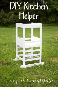 How to Build a DIY Stool Tower Kitchen Helper for Toddlers & Small Children (Plans) – Building Our Rez Do It Yourself Furniture, Kids Furniture, Toddler Fun, Toddler Activities, Toddler Stuff, Toddler Learning, Diy Kids Kitchen, Toddler Kitchen, Kitchen Design
