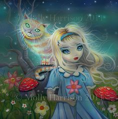 Alice in Wonderland Giclee Print Fairytale Art by MollyHarrisonArt, $24.00