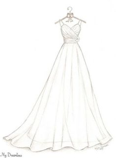 Wedding Dress Sketch Bridal Shower Gift Wedding by Dreamlines Bridesmaids gif.Wedding Dress Sketch Bridal Shower Gift Wedding by Dreamlines Bridesmaids gifts can serve as friendship gifts for# Bridal Dress Design Drawing, Dress Design Sketches, Fashion Design Sketchbook, Fashion Design Drawings, Fashion Sketches, Dress Designs, Clothing Sketches, Fashion Drawing Dresses, Fashion Illustration Dresses