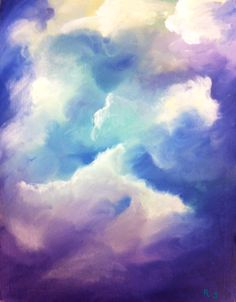 """Afternoon in the Clouds II""  Oil on wood  Annie Spiller- 2012 (Outstanding)"