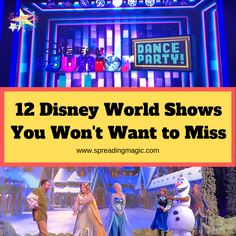 From Broadway style entertainment to interactive experiences, there are some great Disney World shows that you won't want to miss! Disney World Shows, Disney World Trip, Disney World Resorts, Disney Destinations, Disney Vacations, Disney Trips, Run Disney, Disney Cruise Line, Disney Magic