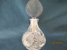 Vintage Princess House Frosted Floral Glass Perfume by BitofHope