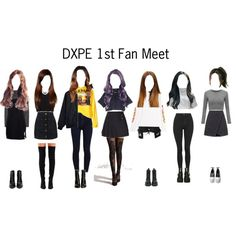 DXPE 1st Fan Meet by irenejoyminzz on Polyvore featuring Opening Ceremony, Pleasures, The Fifth Label, Monki, Hood by Air, See by Chloé, Topshop, LE3NO, New Look and Vetements