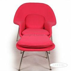 Womb Chair & Ottoman, Pink Bouclé Cashmere Wool |