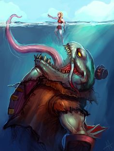 Tahm Kench - League of Legends art by AthavanArt.