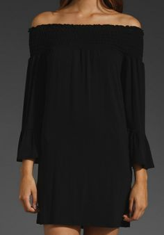 JAMES & JOY Angella Off the Shoulder Dress in Black - Off The Shoulder