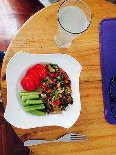 Verduras salteadas Apio y tomate
