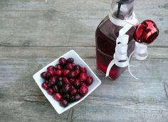 Make your own Cranberry Raspberry Vinegar
