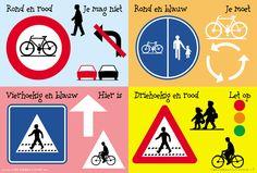 De klas van juf Valérie.: Oefenen voor verkeer.