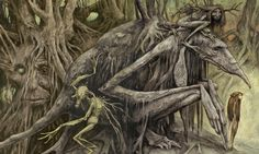 "The Faerie Queen"" by Brian Froud (ilustrator), used as the cover for The Wild Wood by Charles de Lint. Description from pinterest.com. I searched for this on bing.com/images"