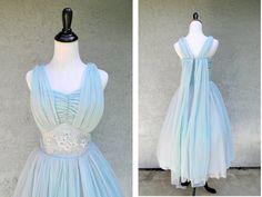 Blue Wedding Dress from ETSY!