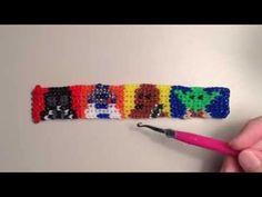 New Star Wars Bracelet - Alpha Loom / Rainbow Loom - R2D2, Darth Vader, Chewbacca, Yoda - YouTube