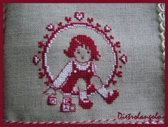 This would be so sweet to stitch Cross Stitch For Kids, Cross Stitch Baby, Diy Embroidery, Cross Stitch Embroidery, Cross Stitch Designs, Cross Stitch Patterns, Little Stitch, Embroidery Techniques, Le Point