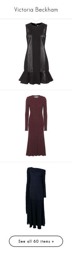 """Victoria Beckham"" by bliznec ❤ liked on Polyvore featuring dresses, black, sleeveless dress, no sleeve dress, victoria victoria beckham dress, red, red dress, victoria beckham dresses, brown dresses and victoria beckham"