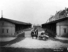 Judarnas torg, kallat Narinken, vid Simonsgatan. Där såldes huvudsakligen gamla kläder. Foto Signe Brander 1909. HSM