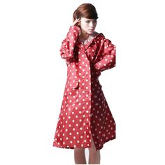 Cute Raincoat Women Lady Polka Dots Light Weight Windproof Waterproof Jacket New Cute Raincoats, Raincoats For Women, Yellow Raincoat, Picture Sizes, Fashion Brands, Polka Dots, Short Sleeve Dresses, Lady, Jackets