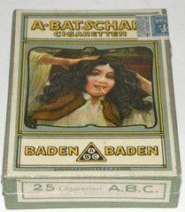 25 Batschari Cigaretten Baden-Baden