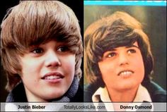 Justin Bieber is the new Donny Osmond. presh.