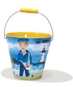 Tin bucket for the beach  - Cubo de metal para la playa