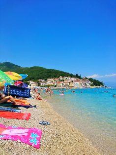 Mošćenička Draga, beach in Croatia / Mošćenička Dragan ranta Kroatiassa #Kroatia #Mošćeničkadraga #Ranta