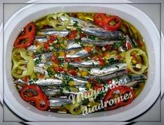 Γαύρος μαρινάτος Recipe Images, Greek Recipes, Vegetable Pizza, Seafood, Appetizers, Cooking Recipes, Fish, Sea Food, Appetizer