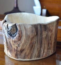Handcrafted Aspen Wood Bowl. $75.00, via Etsy.