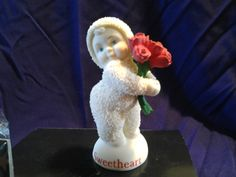 Snowbabies You're A Sweetheart Collectible Figurine Dept56 w/box Valentine Roses | eBay
