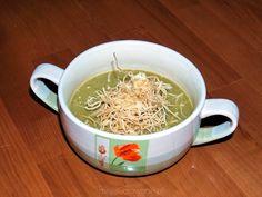 zupa krem z fasolki szparagowej ze smażonym makaronem ryżowym pchelka79