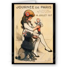 Propaganda-Plakat Pariskind-1917 und -pudel- Karte von Zazzle.de