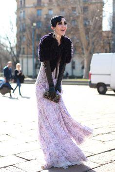 Michelle Harper during Milan Fashion Week (Victoria Adamson for NY Magazine)