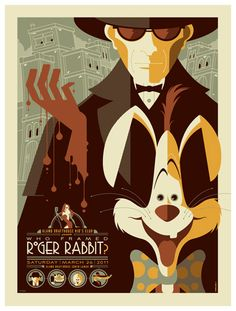 Who Framed Roger Rabbit? retro poster design