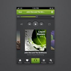 How to Design an iPhone Music Player App Interface With Photoshop CS6