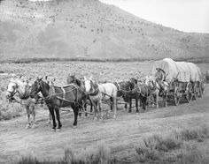 """1843 – The first major wagon train heading for the Pacific Northwest sets out on the Oregon Trail with one thousand pioneers from Elm Grove, Missouri.  The Oregon Trail is a 3,200 km historic east-west wagon route and emigrant trail that connected the Missouri River to valleys in Oregon and locations in between.   It what was dubbed """"The Great Migration of 1843."""""""
