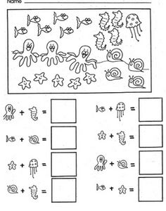Kindergarten Readiness, Kindergarten Teachers, Teaching Math, Teaching Ideas, School Fun, School Ideas, School Stuff, Ocean Scenes, Classroom Activities