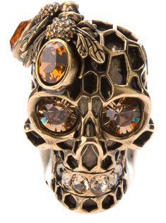 Skulls: Alexander Mcqueen #Skull Ring.