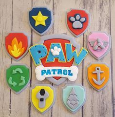Edible Paw Patrol Cake Topper and 8 x Cupcake Topper Shields Skye Paw Patrol Cake, Torta Paw Patrol, Sky Paw Patrol, Paw Patrol Cake Toppers, Paw Patrol Cupcakes, Paw Patrol Birthday Cake, 3rd Birthday Cakes, Paw Patrol Party, 3rd Birthday Parties
