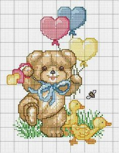 This Pin was discovered by Zey Baby Cross Stitch Patterns, Cross Stitch For Kids, Cute Cross Stitch, Cross Stitch Animals, Cross Stitch Kits, Cross Stitch Designs, Cross Stitching, Cross Stitch Embroidery, Embroidery Patterns