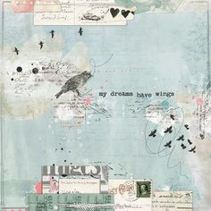artjournaling:    my dreams have wings (by strawberryredhead)