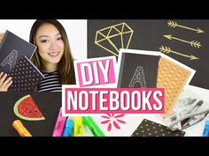 DIY: Notebooks and pencils (confetti, blackboard and striped) - YouTube